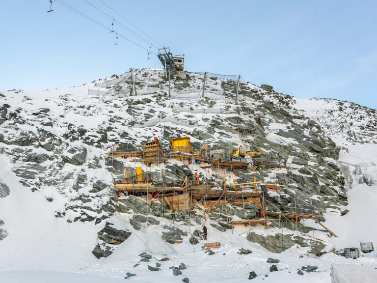 Zengaffinen Saas-Fee Skilift